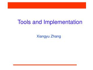 Tools and Implementation