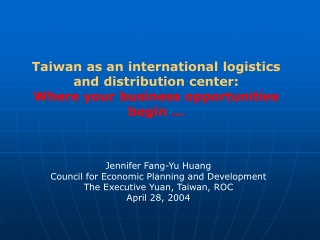 The Development Trend  of  Taiwan Consumer Electronics Industry