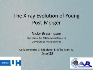 The X-ray Evolution of Young Post-Merger