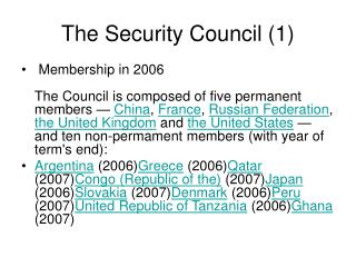 The Security Council (1)