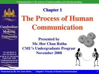 Presented by  Mr. Hor Chan Rotha CMU's Undergraduate Program November 2008