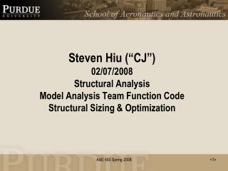 Structural Sizing