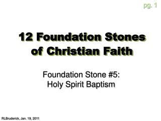12 Foundation Stones of Christian Faith