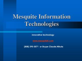 Mesquite Information Technologies