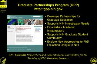 Graduate Partnerships Program (GPP) gpp.nih