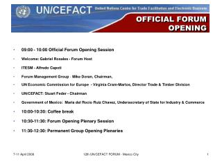 OFFICIAL FORUM  OPENING