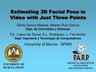 Estimating 3D Facial Pose in Video with Just Three Points