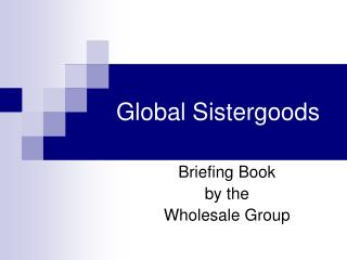 Global Sistergoods