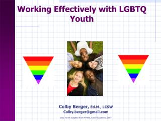 Working Effectively with LGBTQ Youth