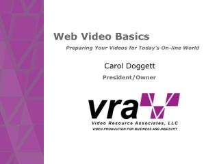 Web Video Basics