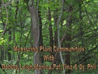 Measuring Plant Communities