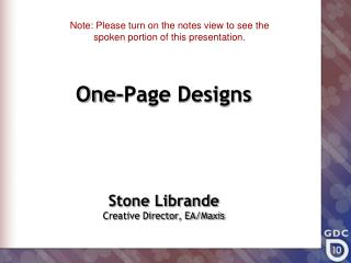 One-Page Designs