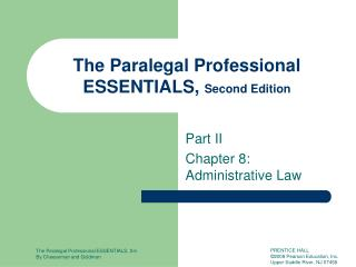 Part II Chapter 8: Administrative Law