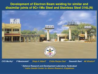 Development of Electron Beam welding for similar and