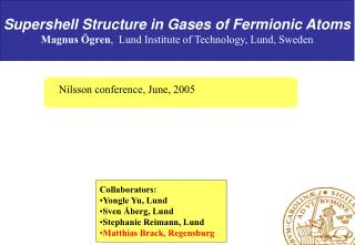 Supershell Structure in Gases of Fermionic Atoms