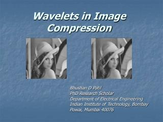 Wavelets in Image Compression