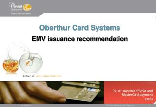 Oberthur Card Systems EMV issuance recommendation