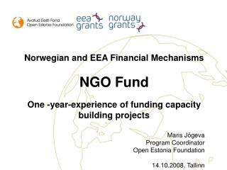 Norwegian and EEA Financial Mechanisms NGO Fund