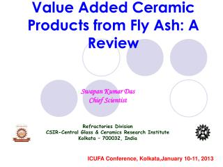 Value Added Ceramic Products from Fly Ash: A Review