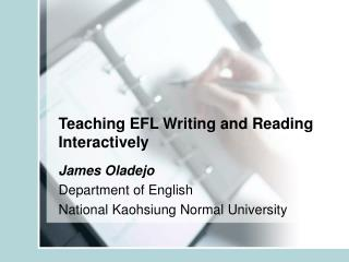 Teaching EFL Writing and Reading Interactively