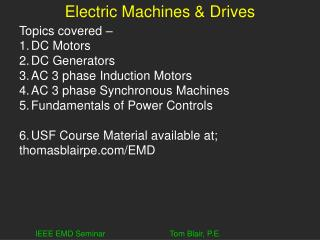 Electric Machines & Drives