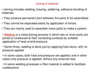 Joining of materials