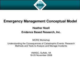 Emergency Management Conceptual Model