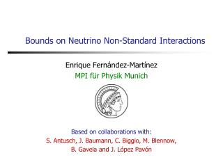 Bounds on Neutrino Non-Standard Interactions