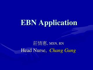EBN Application