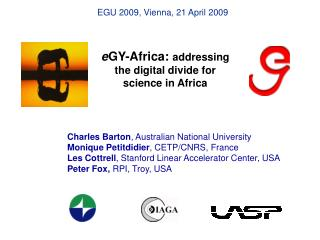 e GY-Africa:  addressing the digital divide for science in Africa