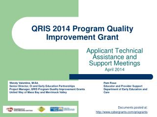 QRIS 2014 Program Quality Improvement Grant