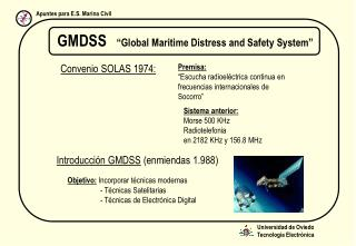 "GMDSS ""Global Maritime Distress and Safety System"""