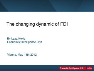 The changing dynamic of FDI