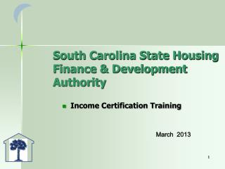 South Carolina State Housing Finance & Development Authority