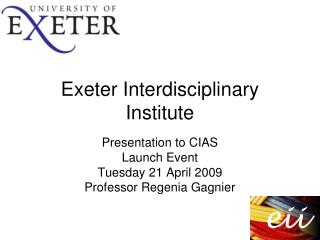 Exeter Interdisciplinary Institute