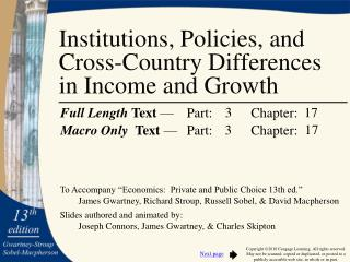 Institutions, Policies, and Cross-Country Differences in Income and Growth