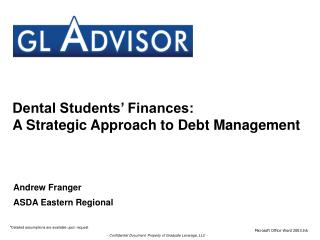 Dental Students' Finances: A Strategic Approach to Debt Management