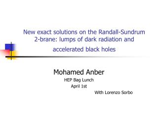 Mohamed Anber HEP Bag Lunch April 1st With Lorenzo Sorbo