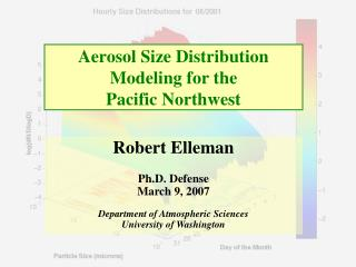 Aerosol Size Distribution Modeling for the  Pacific Northwest