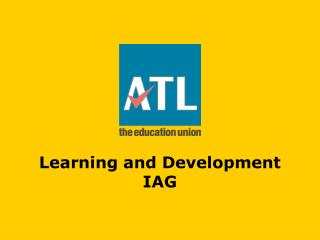 Learning and Development IAG
