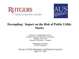 Decoupling:  Impact on the Risk of Public Utility Stocks