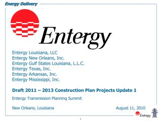 Entergy Transmission Planning Summit