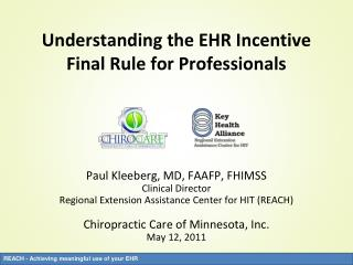 Understanding the EHR Incentive Final Rule for Professionals