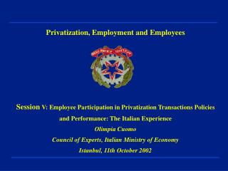 Privatization, Employment and Employees