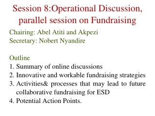 Integrating Strategic Planning, Budget Allocation, and Fundraising