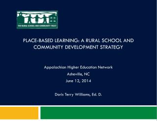 Place-Based Learning: A rural school and community development strategy