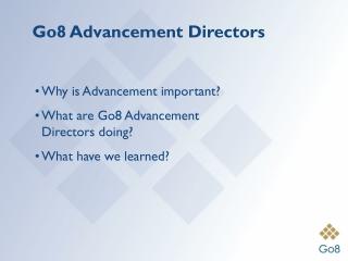Go8 Advancement Directors
