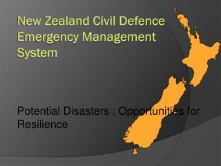 New Zealand Civil Defence Emergency Management System
