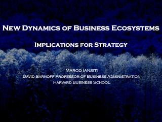 New Dynamics of Business Ecosystems Implications for Strategy