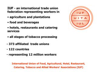 IUF  - an international trade union federation representing workers in